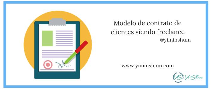 Modelo de contrato de clientes siendo freelance