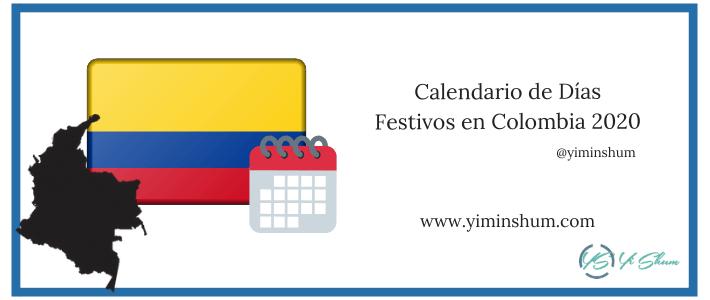 Calendario de Días Festivos en Colombia 2020 IMAGEN