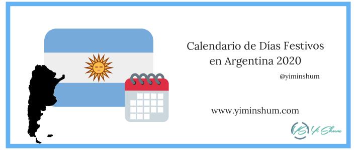 Calendario de Días Festivos en Argentina 2020 imagen