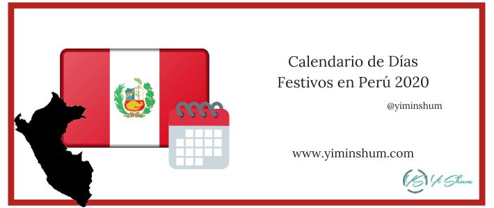 Calendario de Días Festivos en Perú 2020 imagen