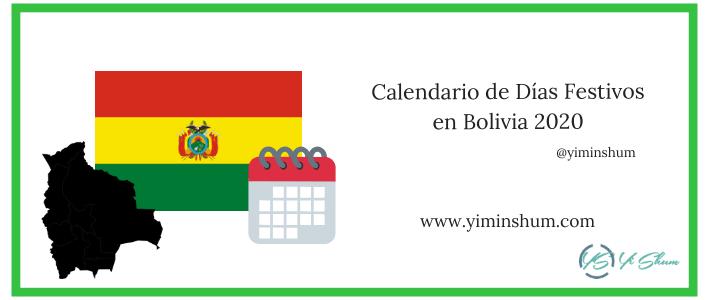 Calendario de Días Festivos en Bolivia 2020