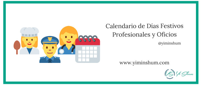Calendario de Días Festivos Profesionales y Oficios imagen