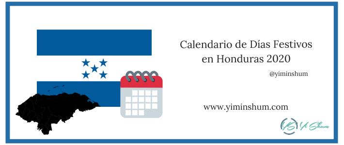 Calendario de Días Festivos en Honduras 2020 imagen