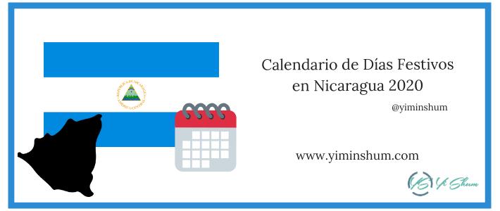 Calendario de Días Festivos en Nicaragua 2020 imagen
