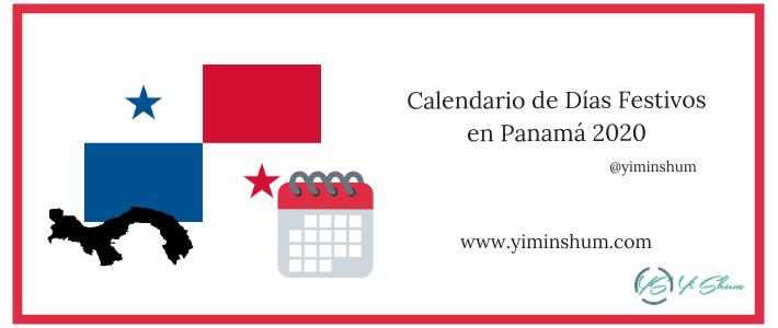 Calendario de Días Festivos en Panamá 2020 imagen