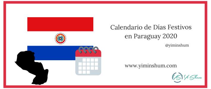 Calendario de Días Festivos en Paraguay 2020 imagen