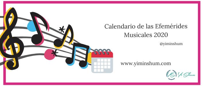 Calendario de las Efemérides Musicales 2020 imagen