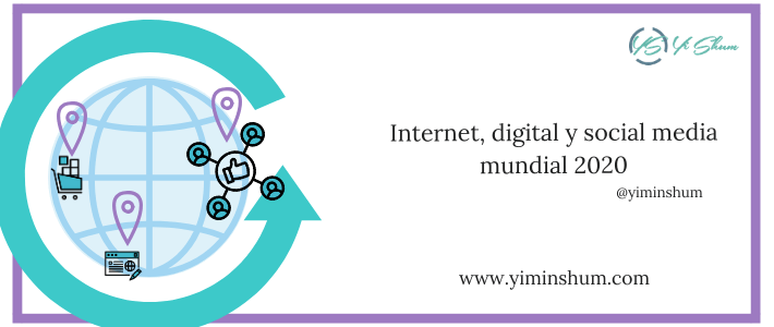 Internet, digital y social media mundial 2020 imagen