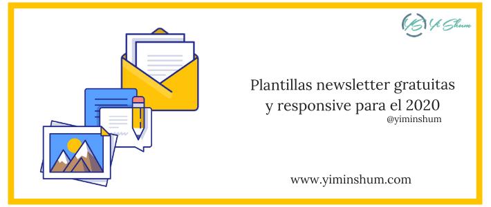 Plantillas newsletter gratuitas y responsive para el 2020