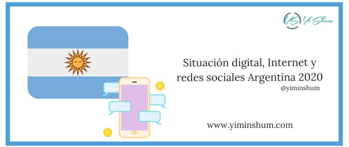Situación digital, Internet y redes sociales Argentina 2020