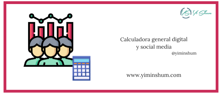 Calculadora general digital y social media
