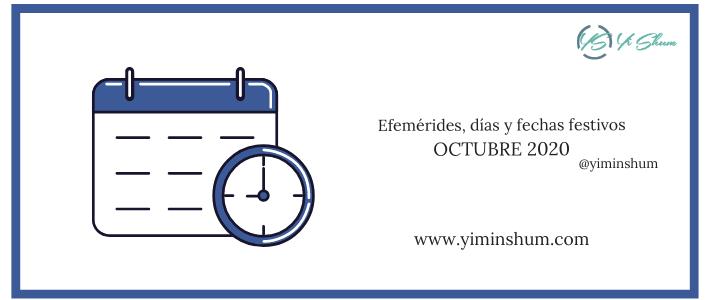 Días y fechas mundiales e internacionales, en OCTUBRE 2020