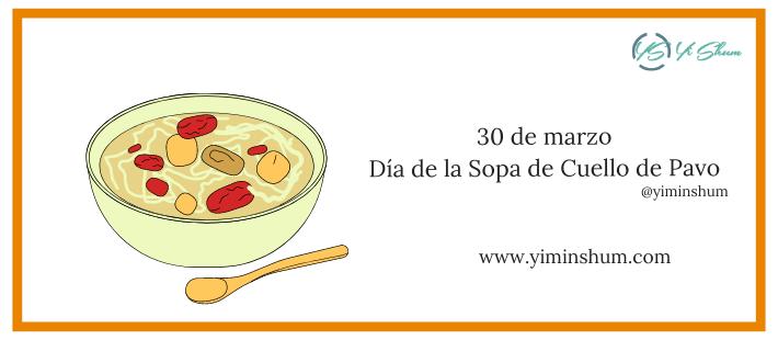 ¿Cuándo se celebra el Día de la Sopa de Cuello de Pavo?